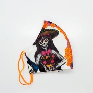 Adult Day Of The Dead Face Mask 1 Pc